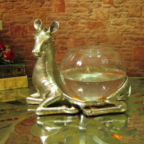 厂家直销 客厅餐桌工艺摆件 欧式高档创意斑马鱼缸