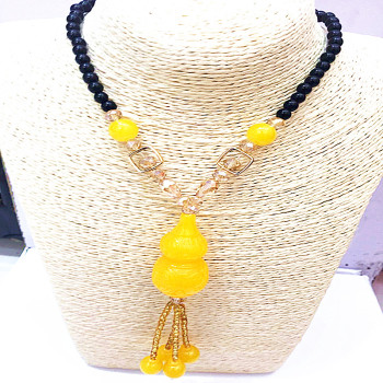 The two generation of natural beeswax brave Pendant Necklace Juno co sweater chain