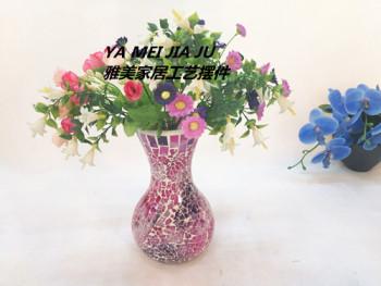 Glass mosaic vase Home Furnishing wedding ornaments