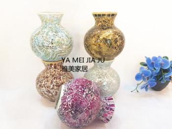 Glass mosaic vase home decoration wedding gifts