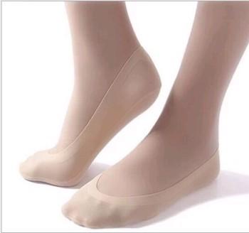 Ice boat socks high-grade seamless silk socks socks stealth anti shedding anti dropping socks with silicone sleeve