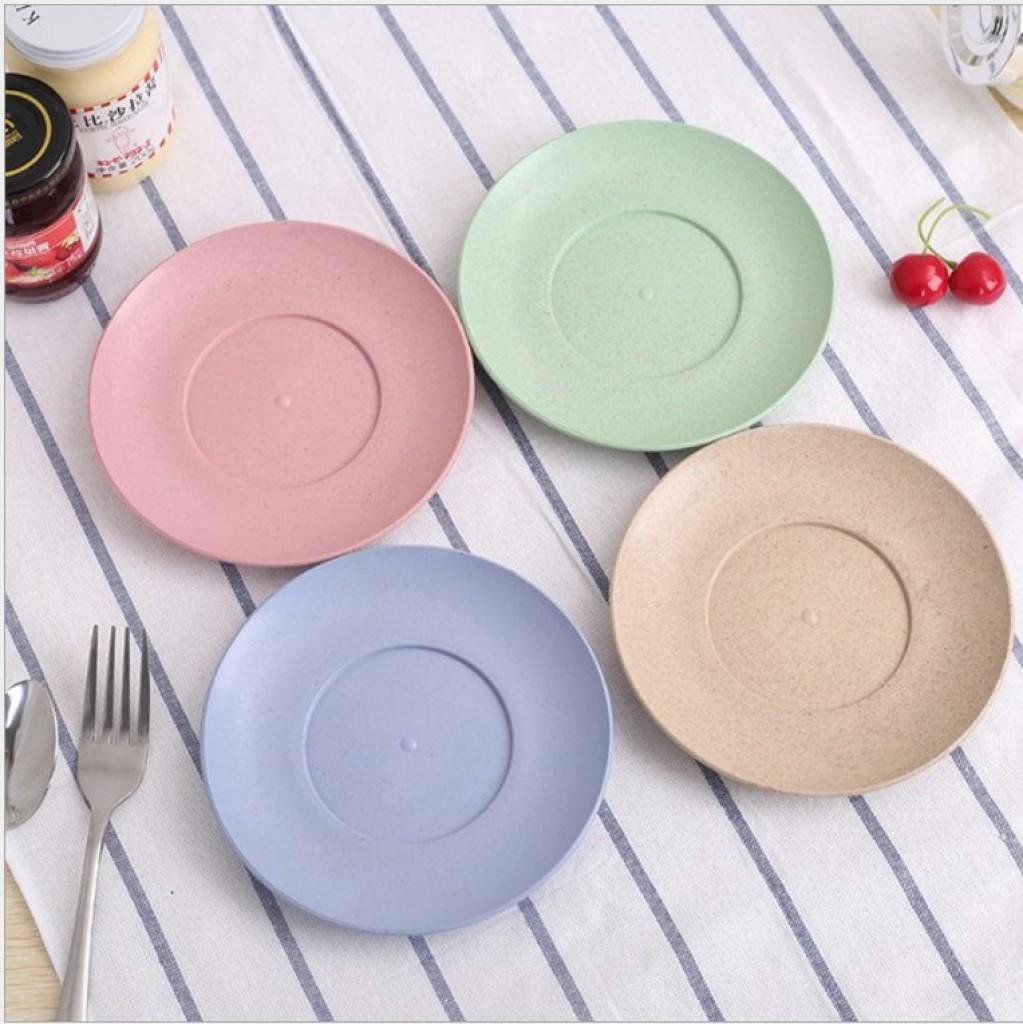 小麦餐盘 欧式复古环保餐碟 圆盘餐具