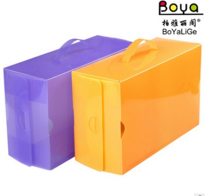 Manufacturers supply of PP plastic color crystal transparent box multi-function receive side portable box