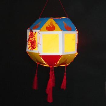 新diy创意手工制作灯笼材料包中秋节亲子儿童作业灯谜暖场活动图片