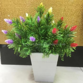 Simulation of plant flowers plastic crafts handle 7 fork small cones