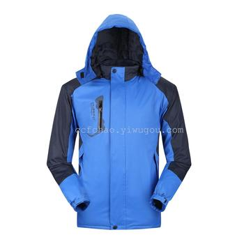 Add thick thick coat of the outdoor three in a waterproof male