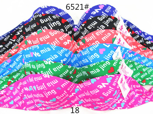 The new letter printed bra a piece of women bra foreign trade spot South America selling bra