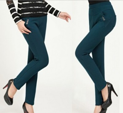 Bamboo charcoal in elderly leisure trousers jeans four pocket size pencil pants Leggings