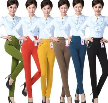 Warm winter Venetian nine Leggings mother dress with cashmere thickened casual pants