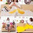 Cartoon donut nap pillow quilt pillow cushion cushion blanket dual-purpose air conditioning is creative gift wholesale