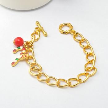 2016新款环保合金圣诞节礼品高档圣诞节手链手环