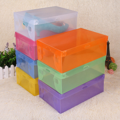 Strongly recommend selling color transparent PP plastic box shoebox clamshell storage box