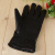 Autumn and winter new warm leather gloves for men and women with velvet gloves.