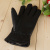 Autumn and winter new warm imitation leather gloves for men and women with comfortable leather gloves.