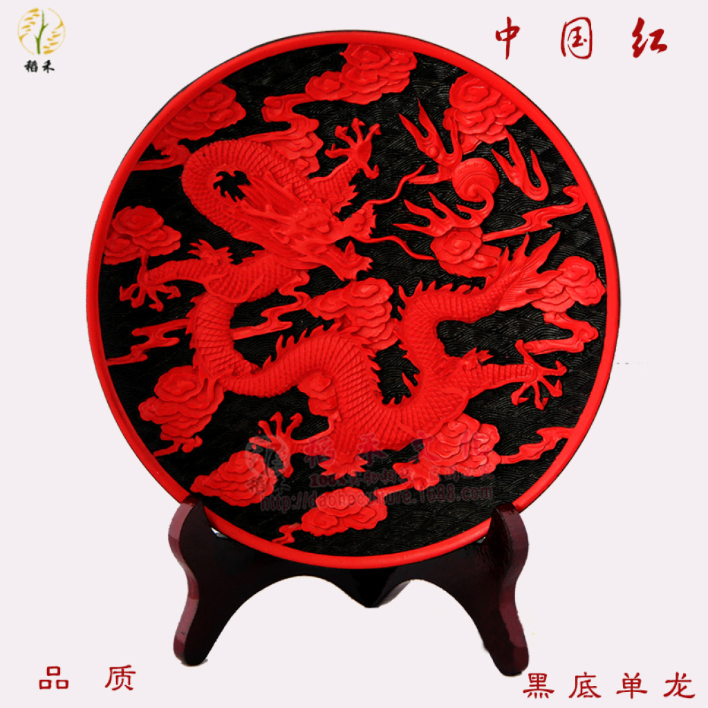 漆雕工艺品大漆雕10#看盘摆件传统工艺小礼品