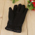 Autumn and winter new warm imitation leather gloves for men and women with comfortable touch screen gloves.