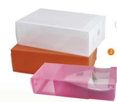 Bai Ge Alice drawer shoebox color transparent PP plastic shoe box