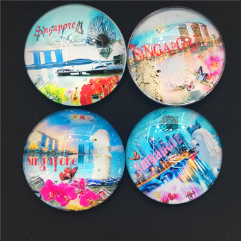 Circular Crystal refrigerator STICKERS CRAFTS patch kitchen accessories wholesale