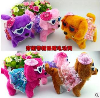 Direct manufacturers wear skirts with glasses hat back dog plush toys for children products arena stall
