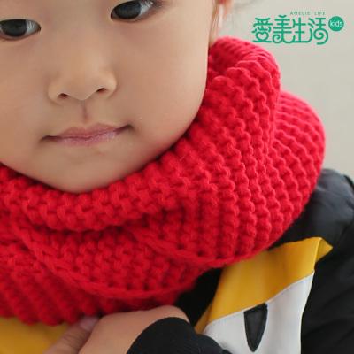 Fashion Korean boy girl Weiji scarf new autumn and winter children pure wool knitted fabric thickening
