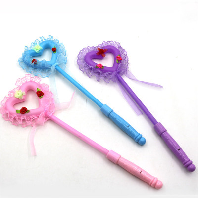 Children's toys light colorful cloth love heart-shaped flash stick concert cheer spread hot