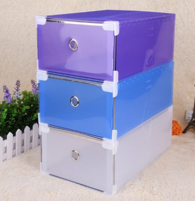 Shoe manufacturers selling metal edging men increase thickened transparent color male shoe drawer shoebox