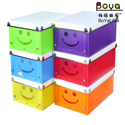 Korea creative explosion of PP plastic metal edging box buckle face multi-function receive candy color series