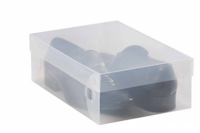 Direct manufacturers transparent flip short boots box plastic box crystal box