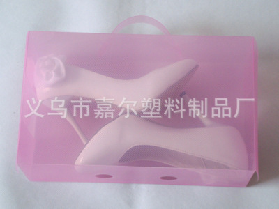 On the side of portable shoes box transparent box drawer type storage box containing PP