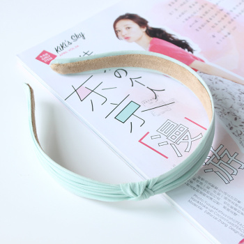 The New South Korean minimalist temperament chiffon fabric crushed hoop head hoop handmade hair accessories wholesale