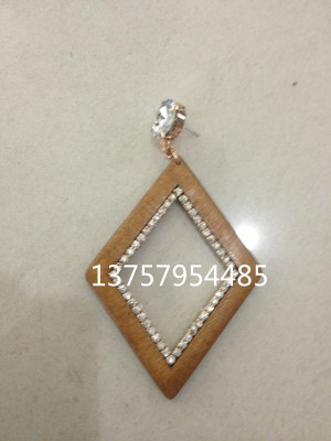 Wood Earrings Jiali wood beads factory outlets