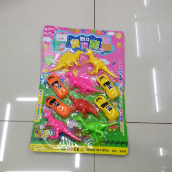 Children's educational toys wholesale board fitted children plastic dinosaur toy car combination