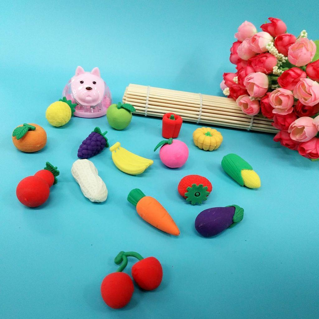 diy创意橡皮 可爱卡通造型水果蔬菜橡皮擦