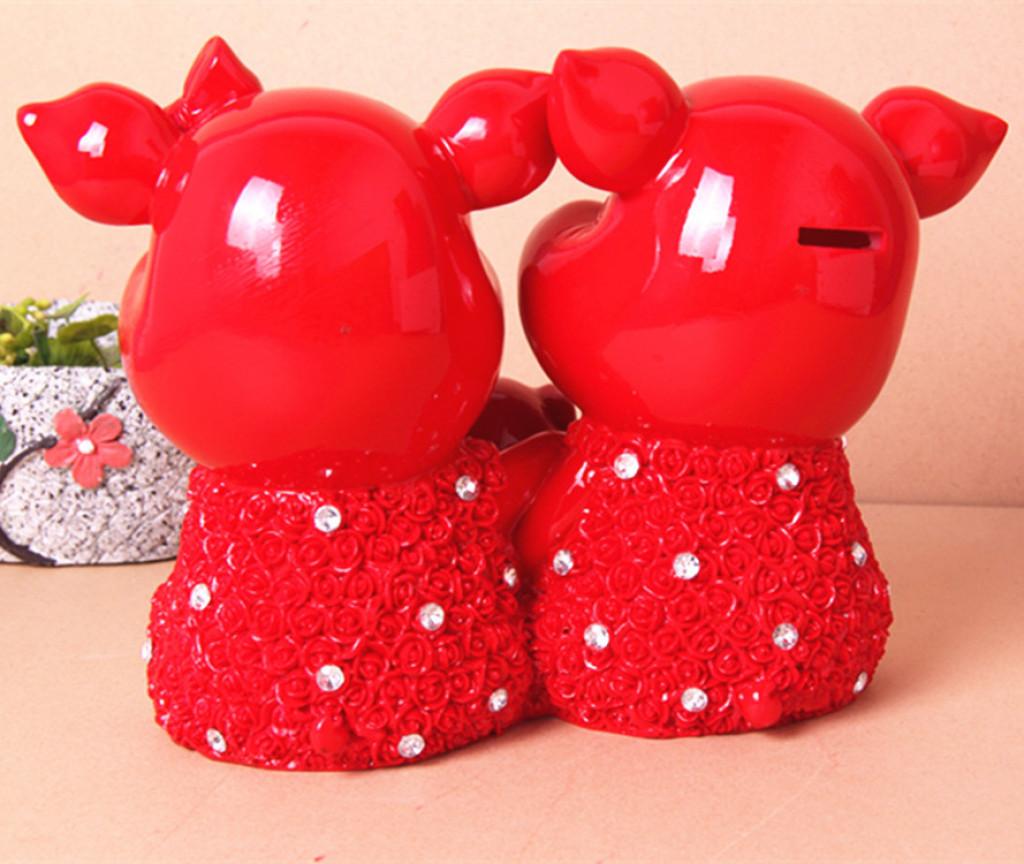 手工制作 家居礼品 喜庆幸福猪动物 树脂工艺品