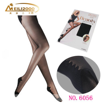 The spring T slip through the cool slim bikinis crotch pantyhose pantyhose foot contact