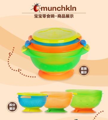 United States imported Mackenzie suction cup children's training bowl does not contain BPA without cover