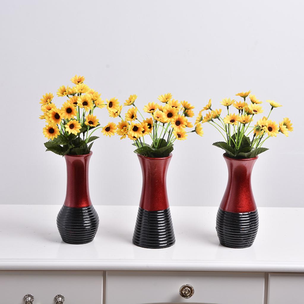 欧式风雕花陶瓷花瓶 陶瓷工艺品茶几摆件 客厅家居花艺装饰器皿
