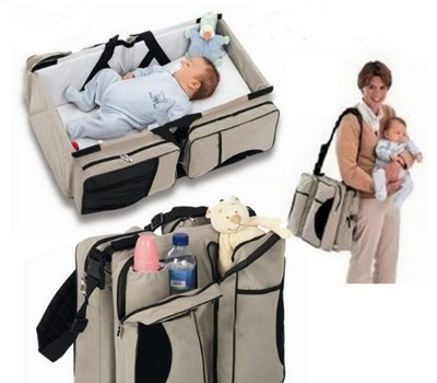 Baby portable travel bed travel / mummy bag type folding baby bed convenient mummy bag
