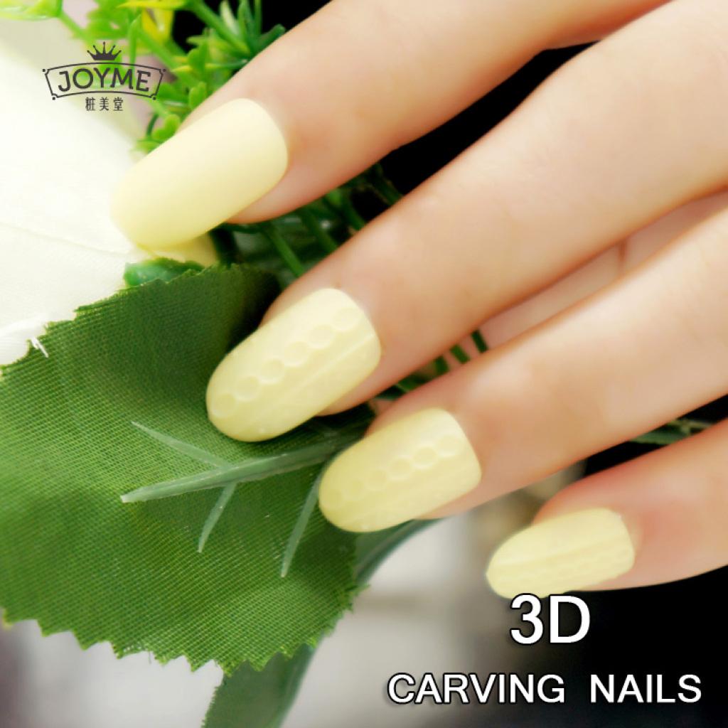 3d浮雕假指甲 立体花纹日系指甲片