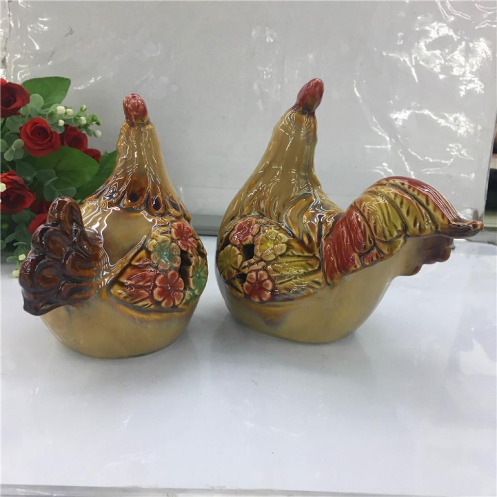 陶瓷工艺品摆设公鸡陶瓷摆件图片