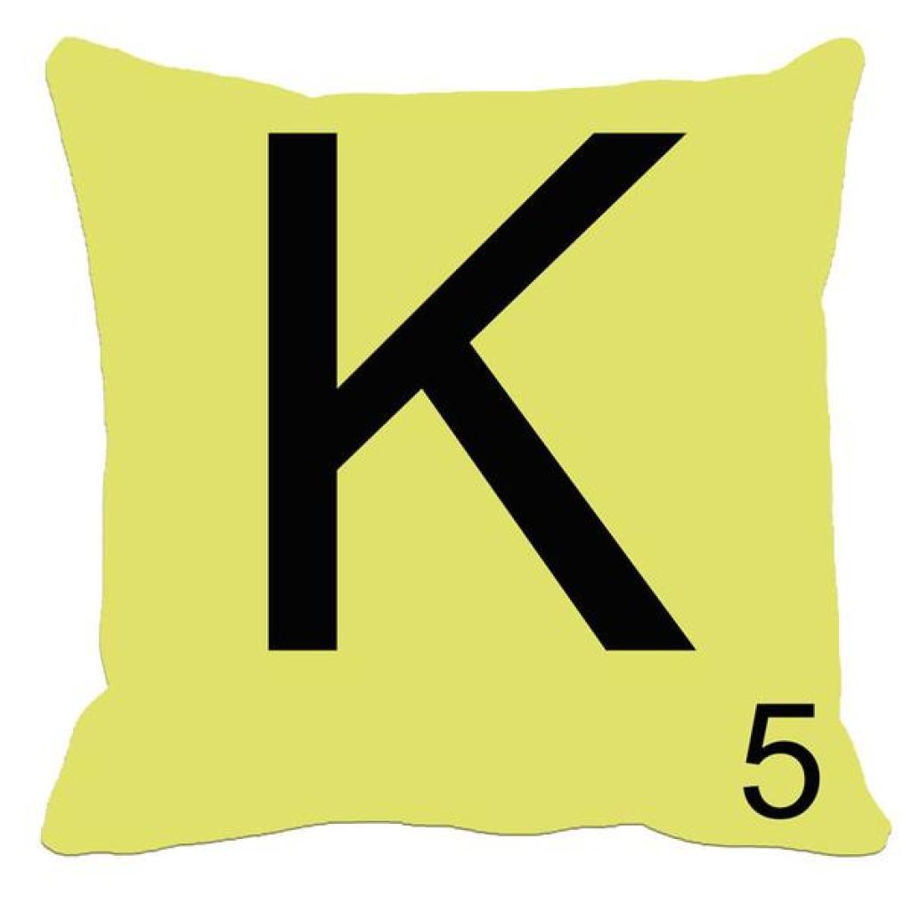 北欧创意英文字母亚麻抱枕套 靠垫套