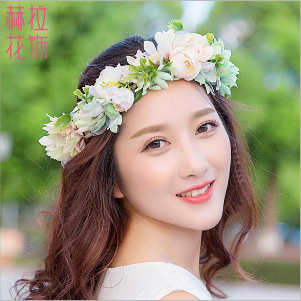 诺贝赫拉 新款韩式新娘头饰花环批发
