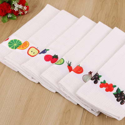 Factory direct colored embroidered napkin mat Essential Kitchen Tea Towels baking tea towel cloth
