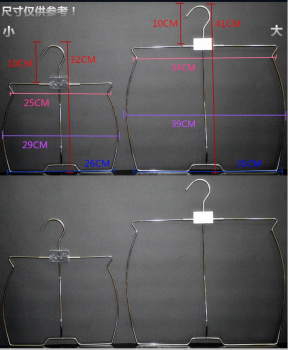 Wire swimming clothes hangers