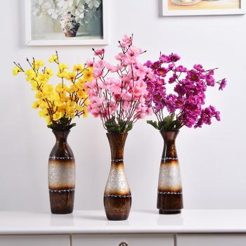 现代简约家居陶瓷摆件 客厅抽象插花瓶 中式家居装饰品花器批发