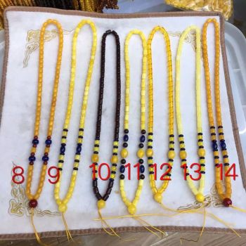 A chain of amber beeswax lanyard sweater Necklace amber beeswax Succinum old rainbow chain