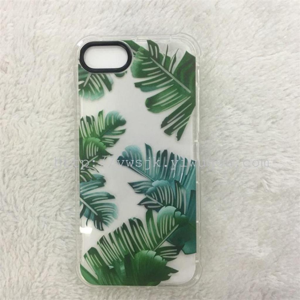 iphone7小清新植物彩绘芭蕉叶彩绘手机壳