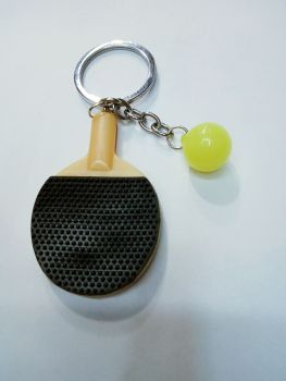 Plastic table tennis racket bead key buckle