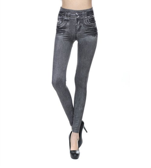 2017 spring and autumn hot style women's dress imitation jeans women's tight pants
