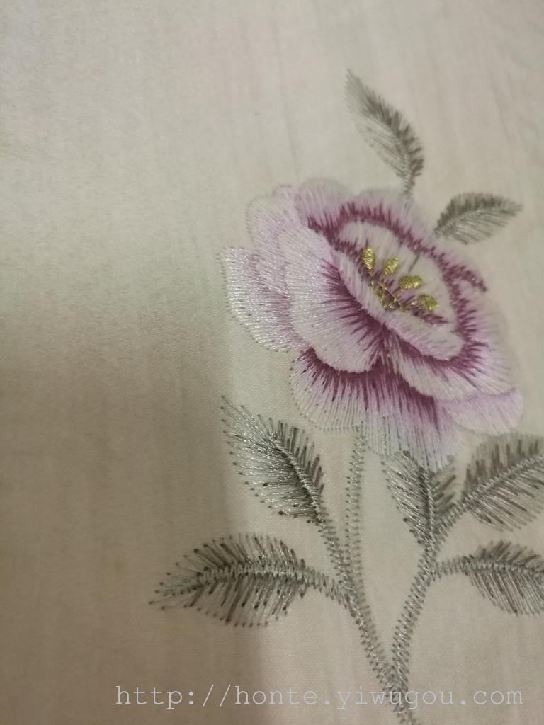 欧式无缝墙布 高端刺绣 无纺3d